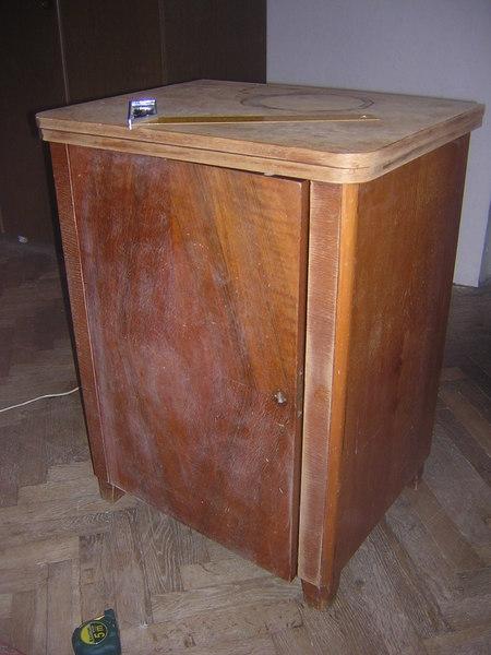 Реставрация старой тумбочки фото