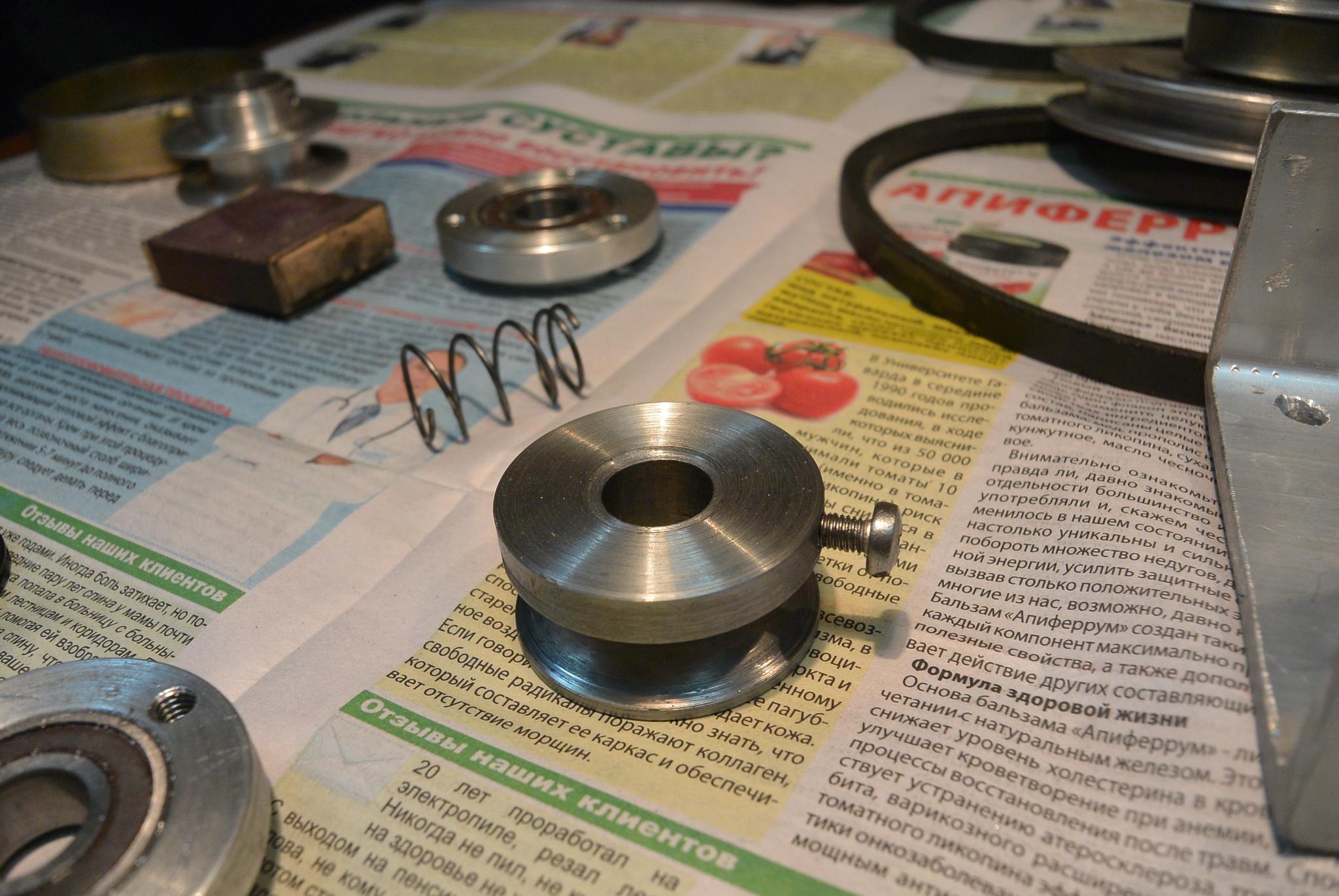 Как сделать шкив для электродвигателя 23
