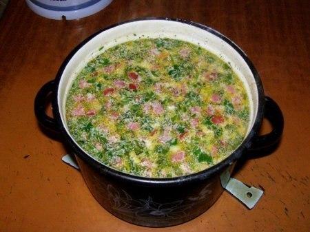 Суп с копченым сыром рецепт с фото