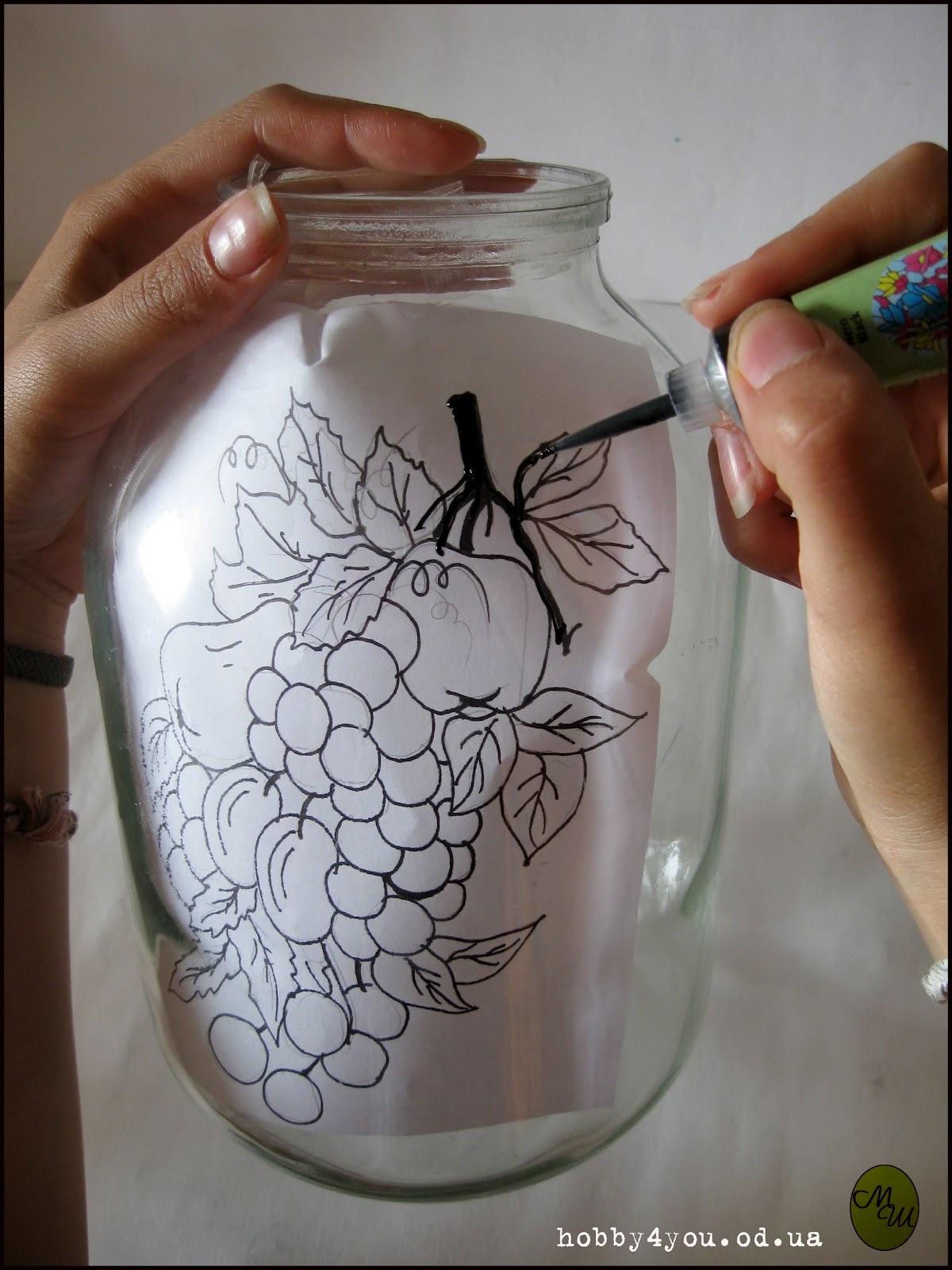 Рисунок по стеклу