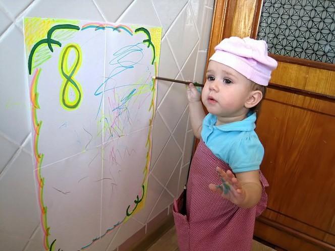 Раньше в детстве нарисуешь маме каляку маляку