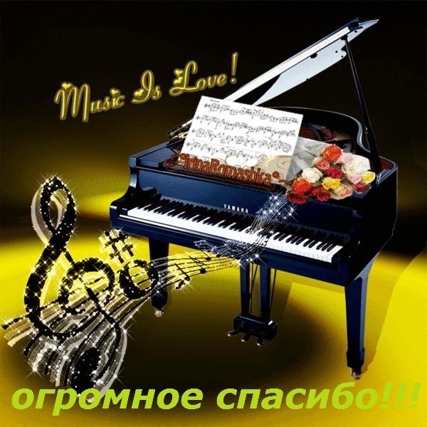Открытка с днём рождения пианисту 75
