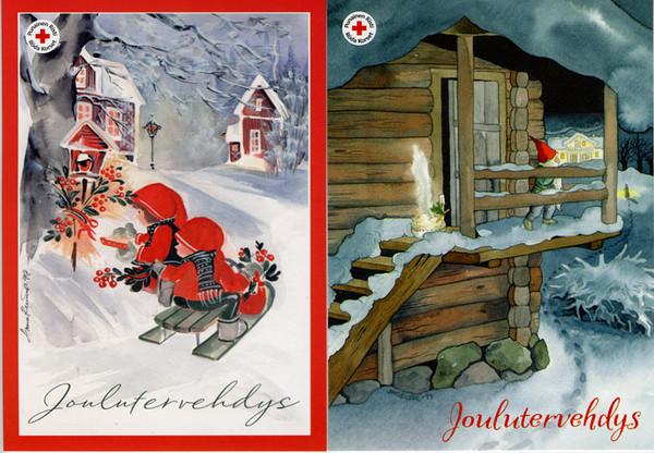Открытка а финское рождество