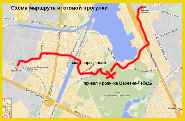 Схема маршрута итоговой