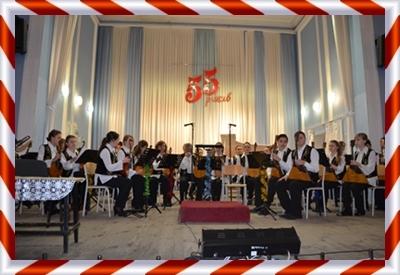 """Рождественский концерт отдела """"Народные инструменты""""."""