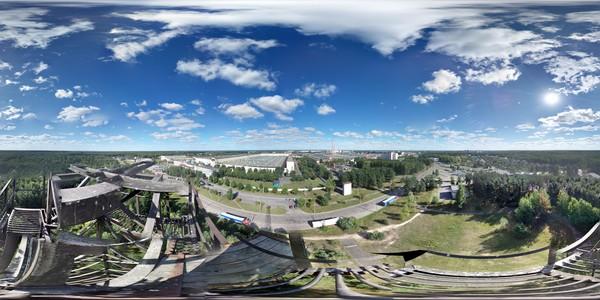 Бобруйск и Белшина с высоты 50-ти метров. Моя первая сферическая 360° панорама. 05.09.2013