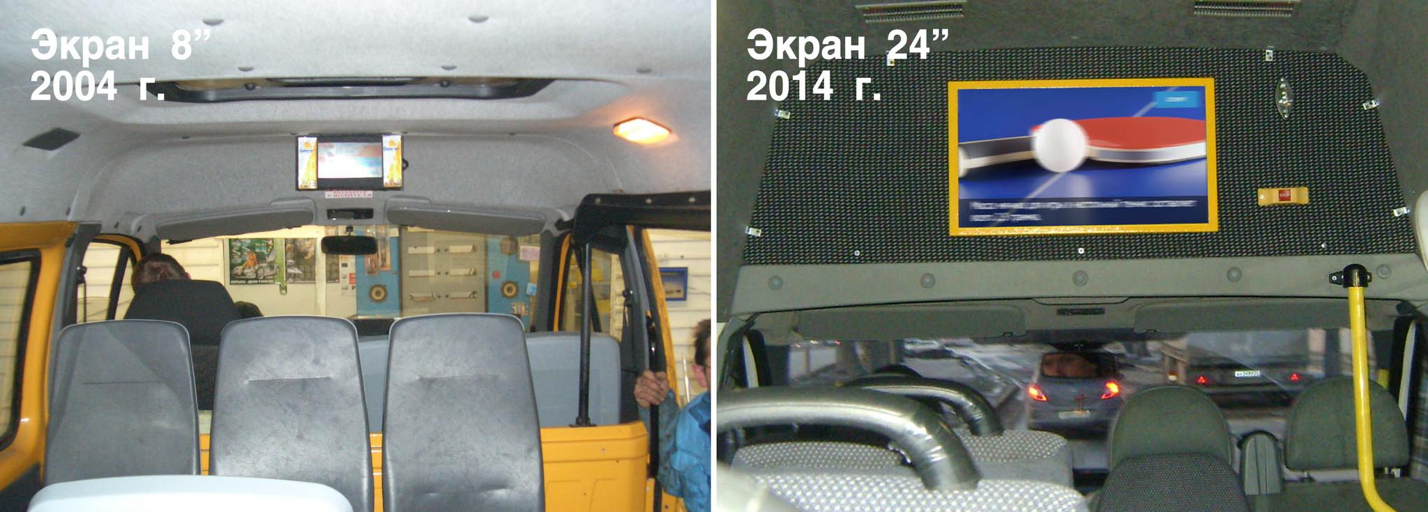 рекламные мониторы в транспорте