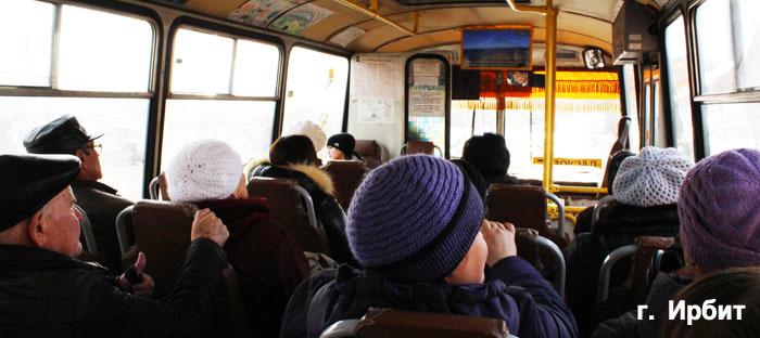 видеомонитор в автобусе Ирбит