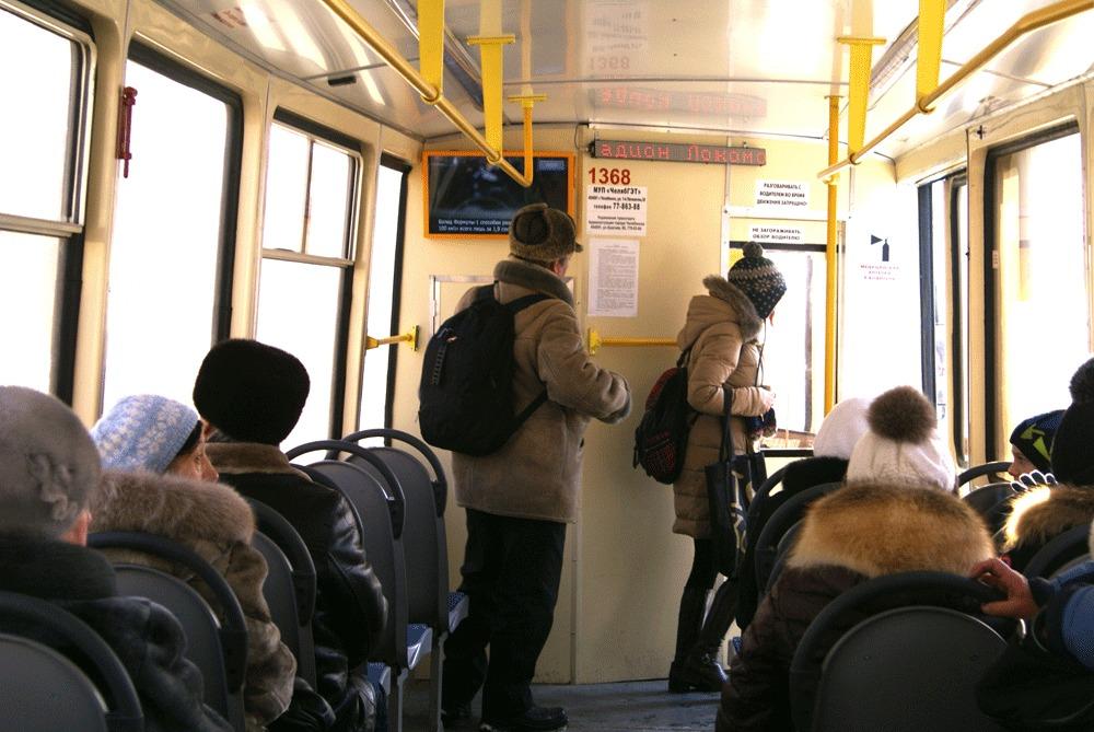 Монитор Первого Маршрутного Телевидения в общественном транспорте