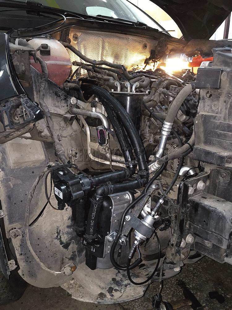 Volkswagen Tiguan I Diesel. Установка Webasto Thermo Top Evo
