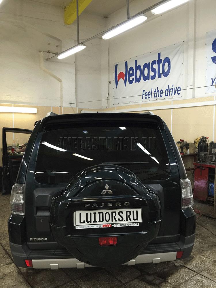 Установка предпускового подогревателя Webasto Thermo Top Evo 5 (дизель 5 КВт) на автомобиль Mitsubishi Pajero IV