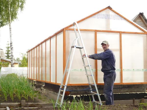 Как построить теплицу из поликарбоната своими руками из дерева - Hodusov.ru