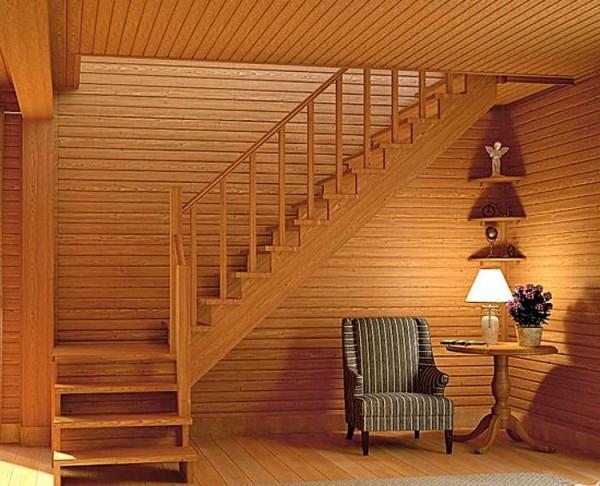 Лестница на второй этаж дома