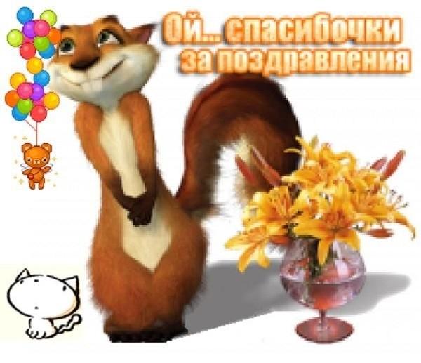 Ответ на поздравление с днем рождения прикольные картинки