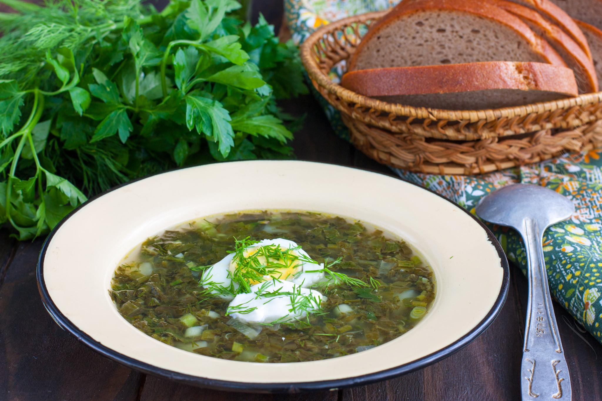 Суп из щавеля с яйцом рецепт с пошаговым фото