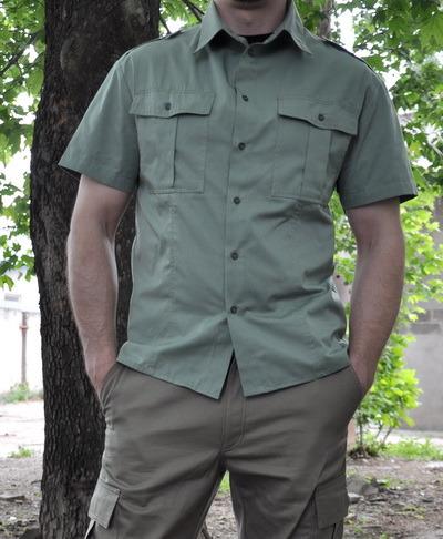 Купить армейскую рубашку с коротким рукавом джинсы love moschino