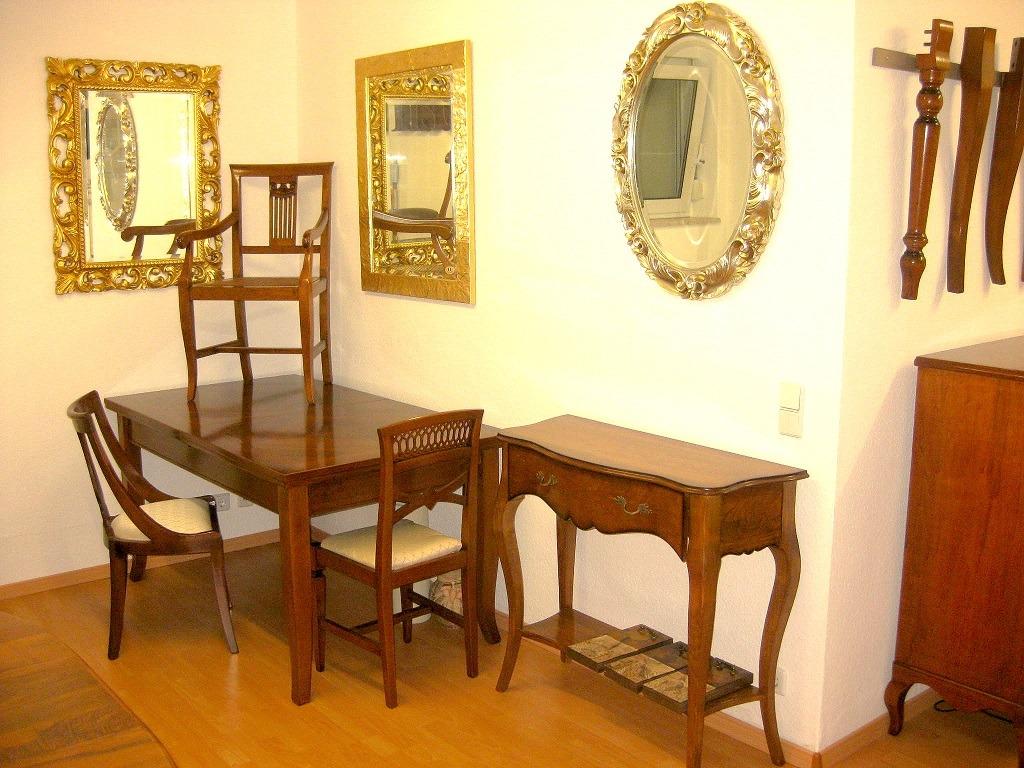 esstisch ausziehtisch tisch ausziehbar nussbaum massiv stilm bel italien ebay. Black Bedroom Furniture Sets. Home Design Ideas
