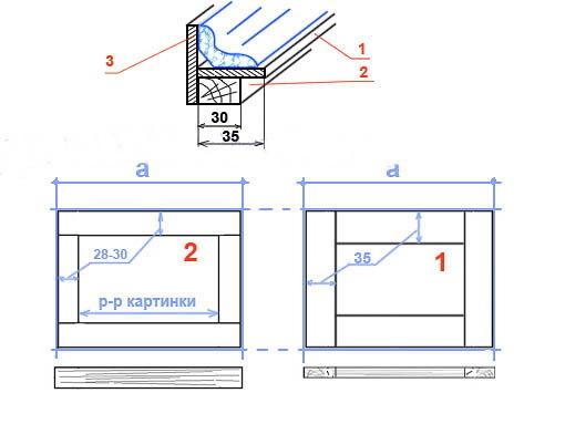 Сделать рамку для картины  из деревянного плинтуса