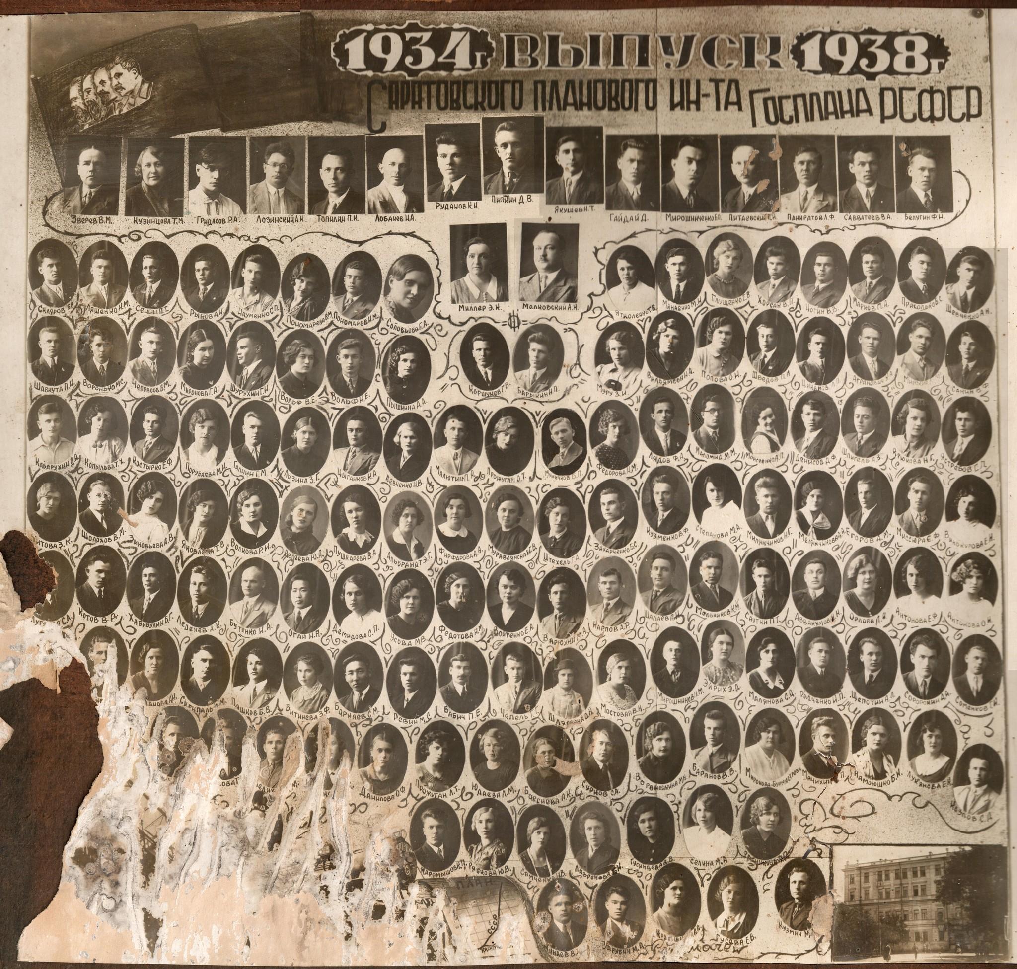 Выпуск Саратовского планового института Госплана РСФСР 1934-1938гг.