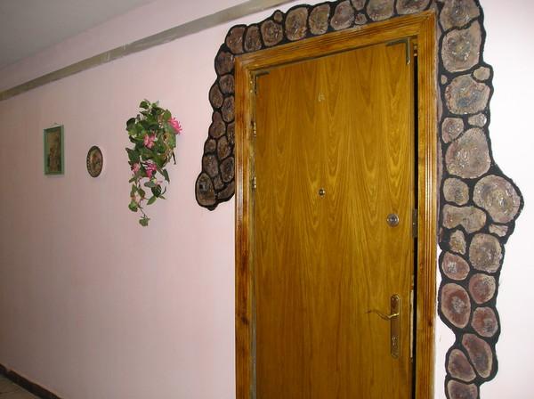 Декор входной дверей  фото