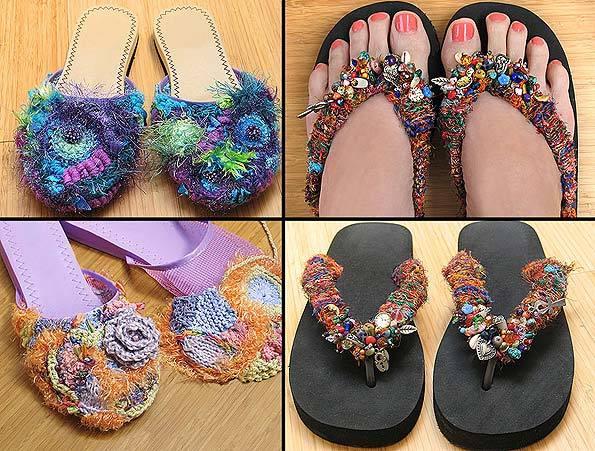 Украшения для обуви своими рукам