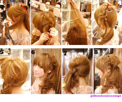 Причёски на средние волосы девочке в домашних условиях фото пошагово