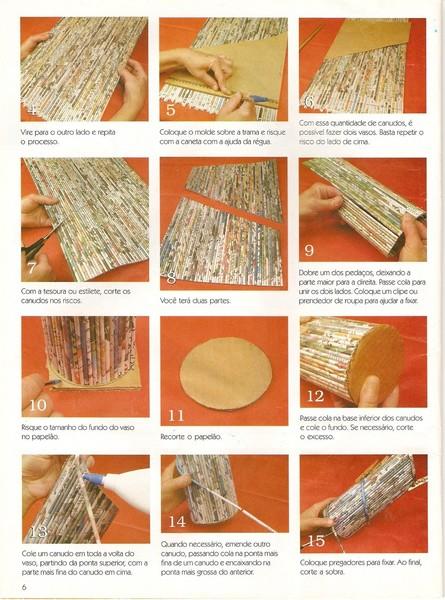 Инструкция по плетению из газеты