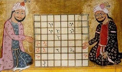 миниатюра из арабской рукописи 10 века.