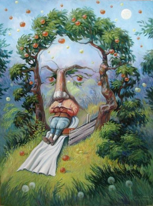 Оптические иллюзии Олега Шупляка