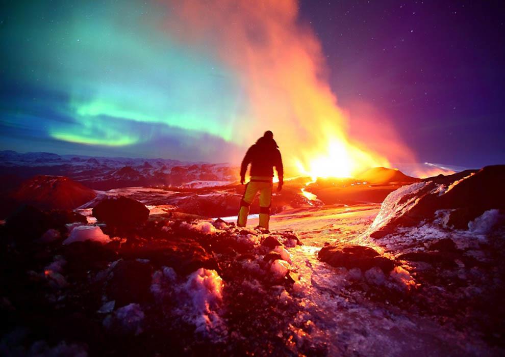Вулкан Эйяфьядлайёкюдль.Фотограф Джеймс Эпплтон