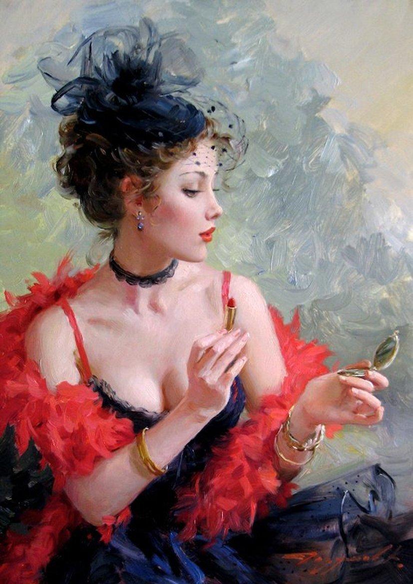 О, эта женщина в дымке вуали-картины Константина Разумова