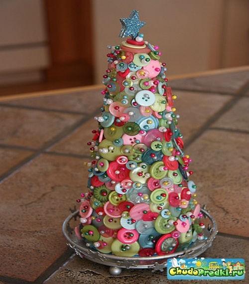 Новогодняя елка своими руками из подручных материалов