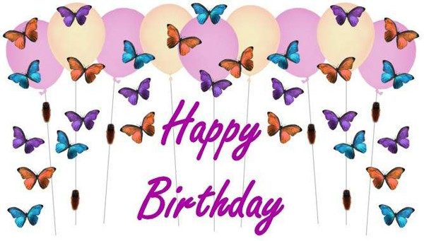 Открытки день рожденья бабочки