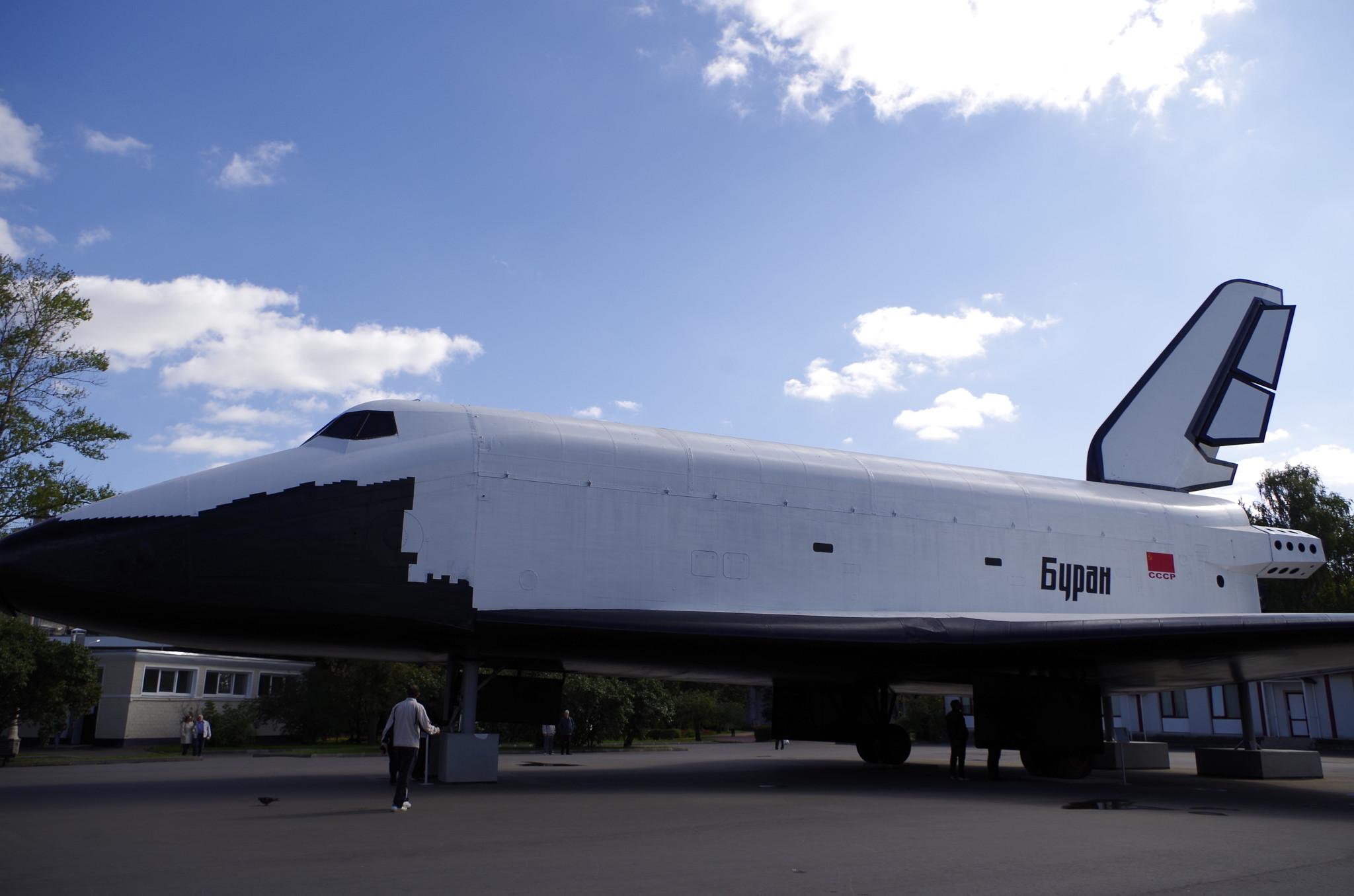 Макет космического корабля многоразового использования «Буран» на ВДНХ
