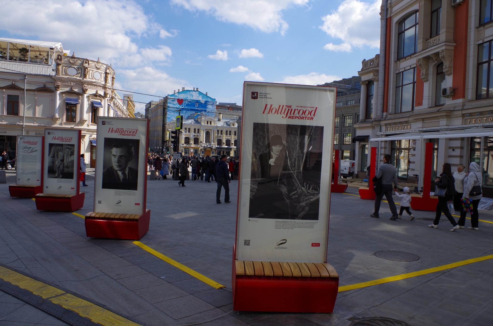 Фотовыставка «Легенды Кино» на улице Кузнецкий Мост