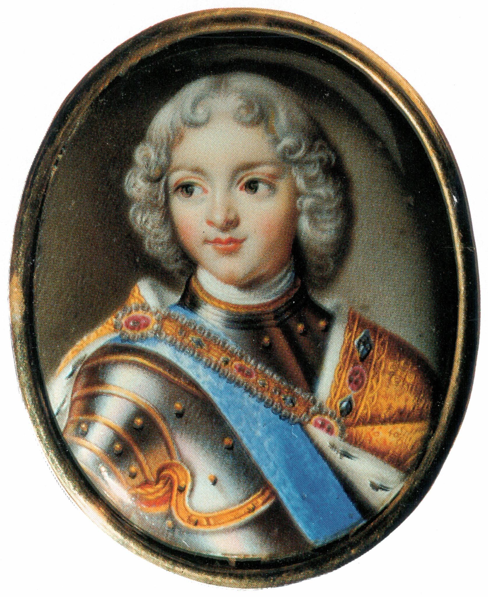 Петр II в конце 1720-х