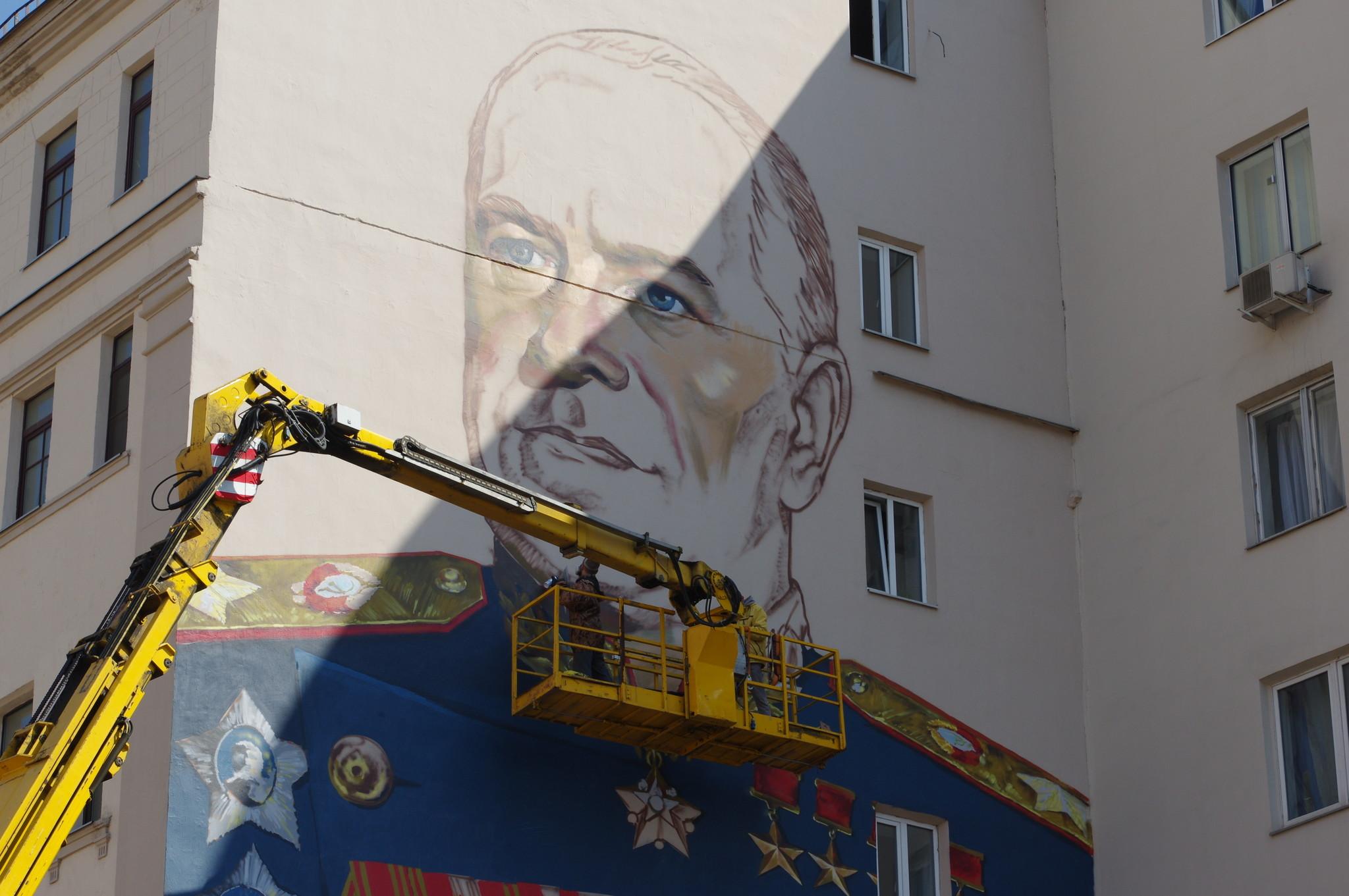 Портрет четырежды Героя Советского Союза Георгия Константиновича Жукова займёт площадь в 250 квадратных метров