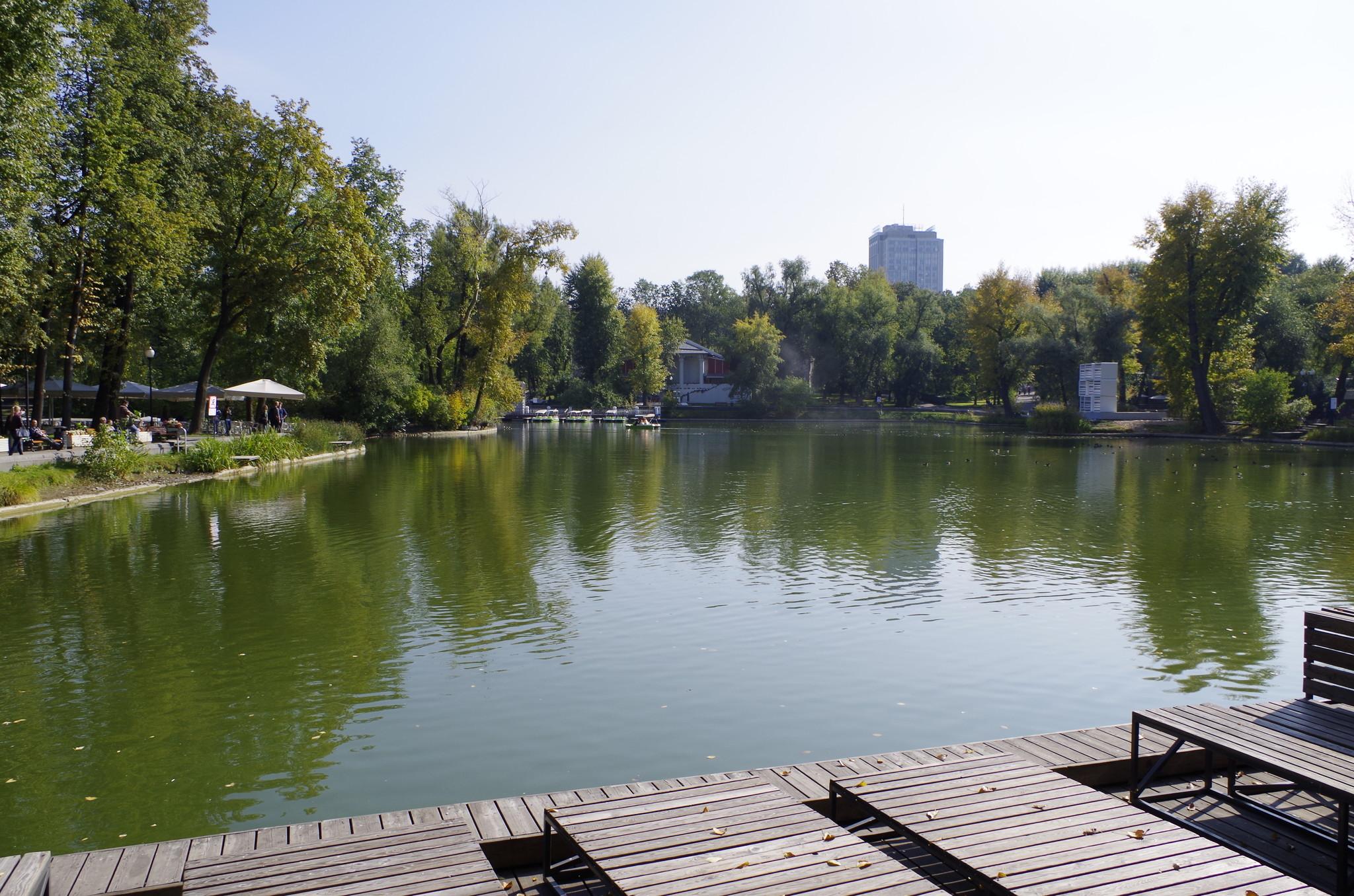 Пляжная зона в Парке Горького