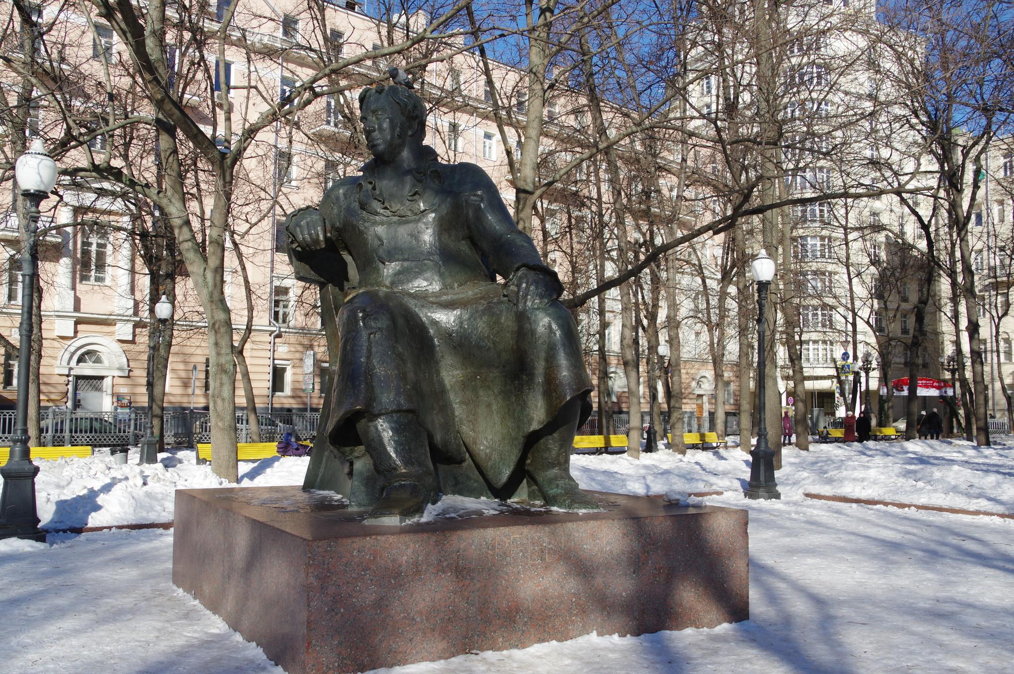 Памятник Ивану Андреевичу Крылову на Патриарших прудах