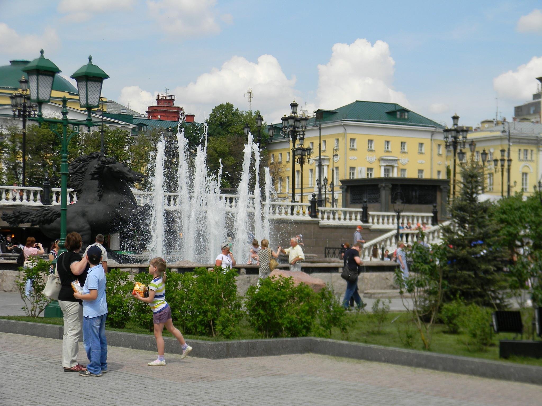 Фонтанный комплекс на Манежной площади