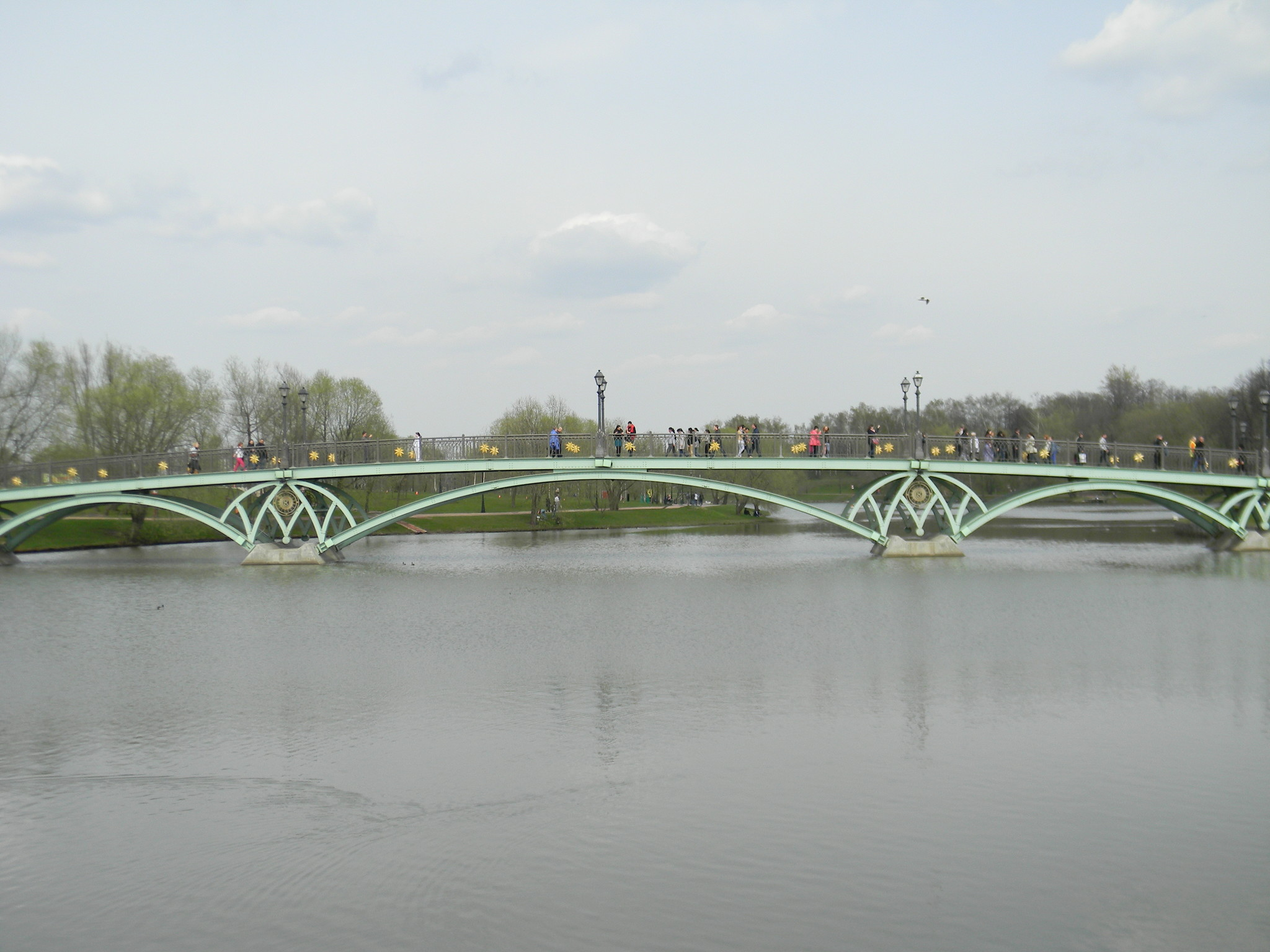 Мост по проекту В.С. Кереметчи. Средний Царицынский пруд