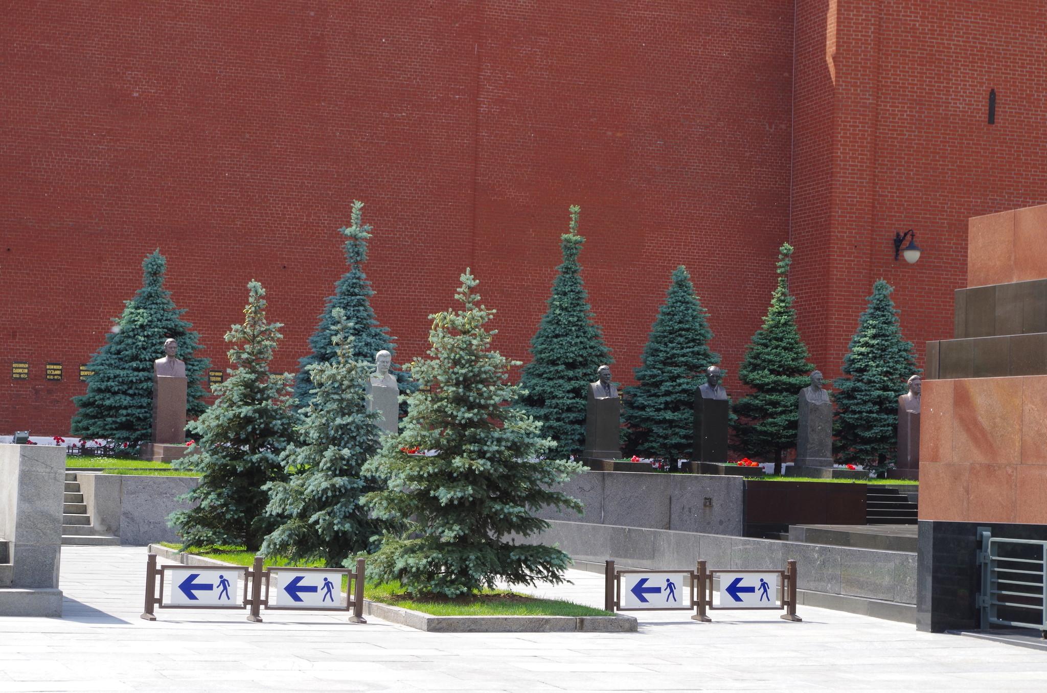 У Кремлёвской стены на Красной площади Москвы