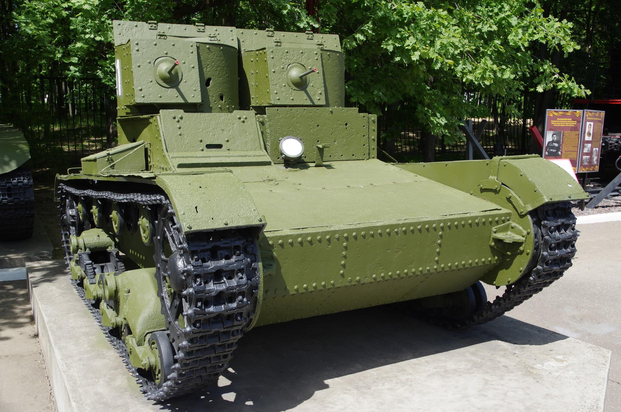 Лёгкий танк Т-26 двухбашенный 1931-1933 годов выпуска