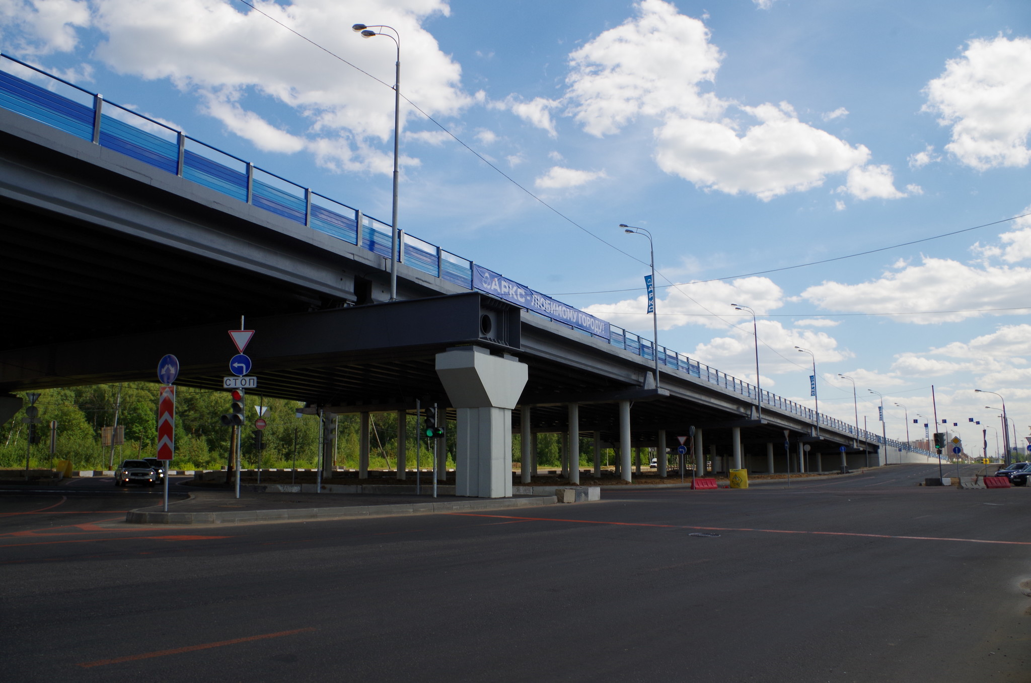 Эстакада на Дмитровском шоссе в районе посёлка Северный Северо-Восточного округа