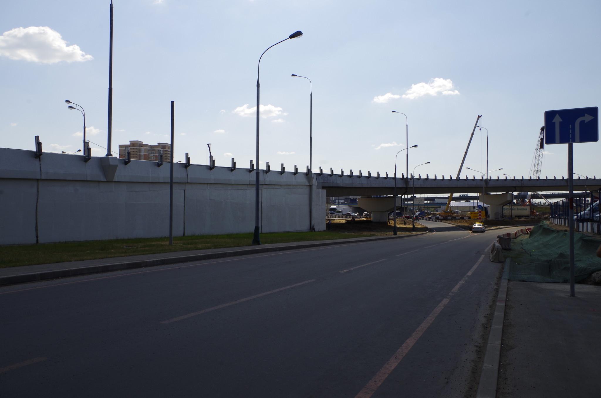 Транспортная развязка на пересечении МКАД с Дмитровским шоссе