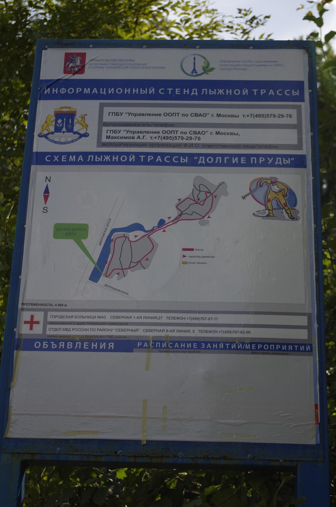 Схема лыжной трассы