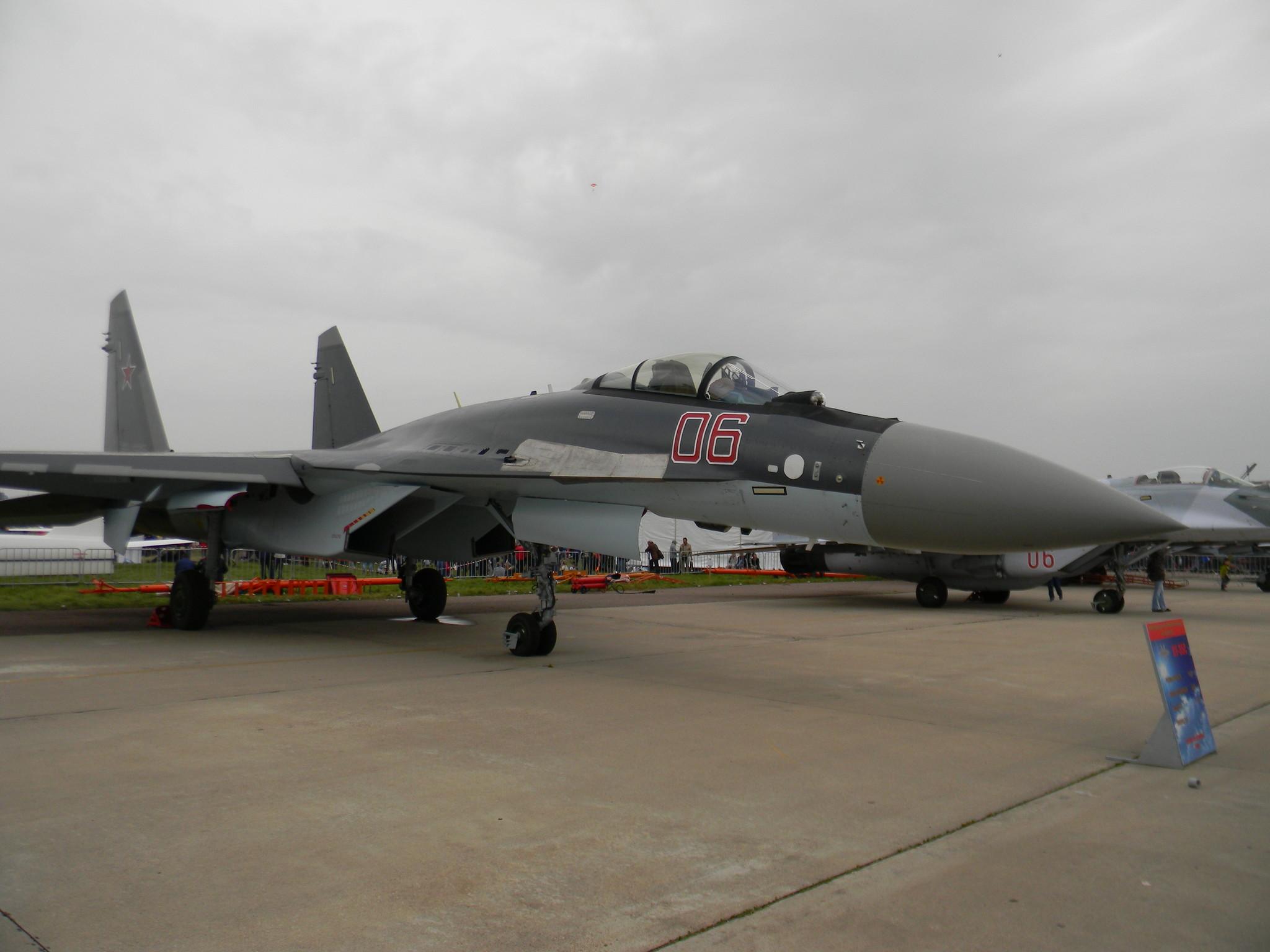 Су-35С ВВС России в окраске принятой с 2010 по 2013 года