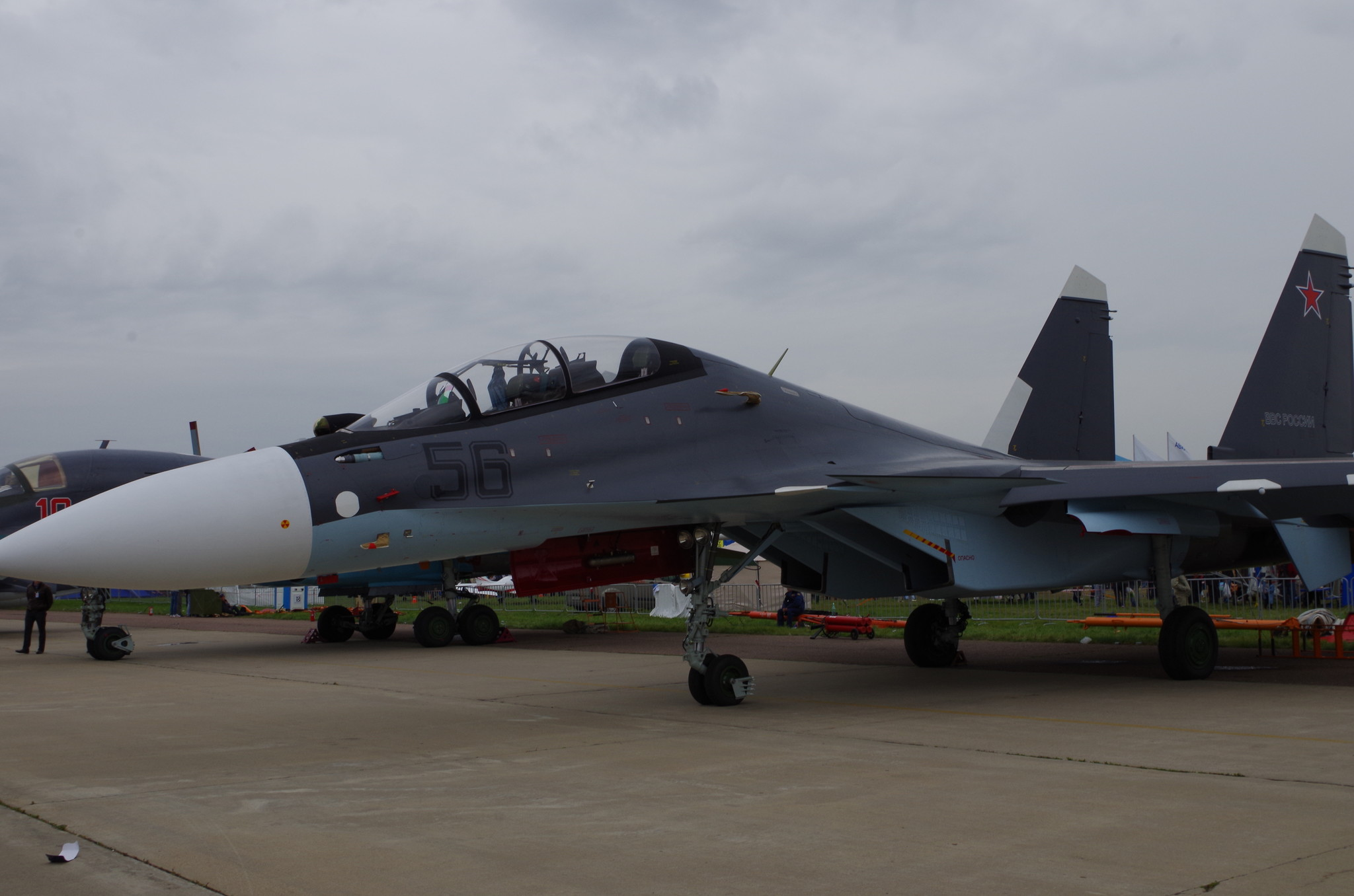 Многоцелевой двухместный истребитель Су-30СМ