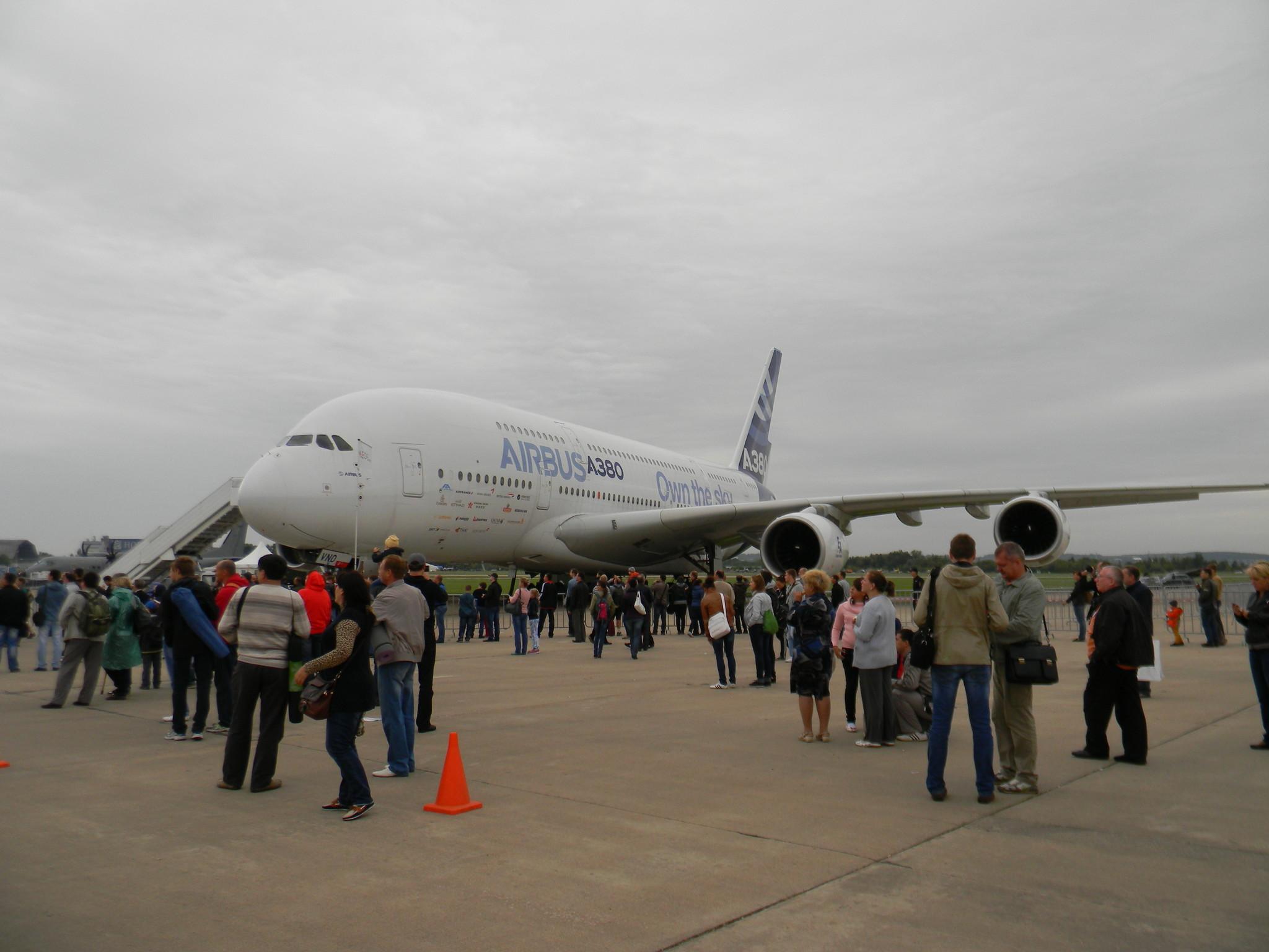 Лайнер-гигант Airbus A-380 (Эрбас А-380) производства европейского авиастроительного концерна EADS