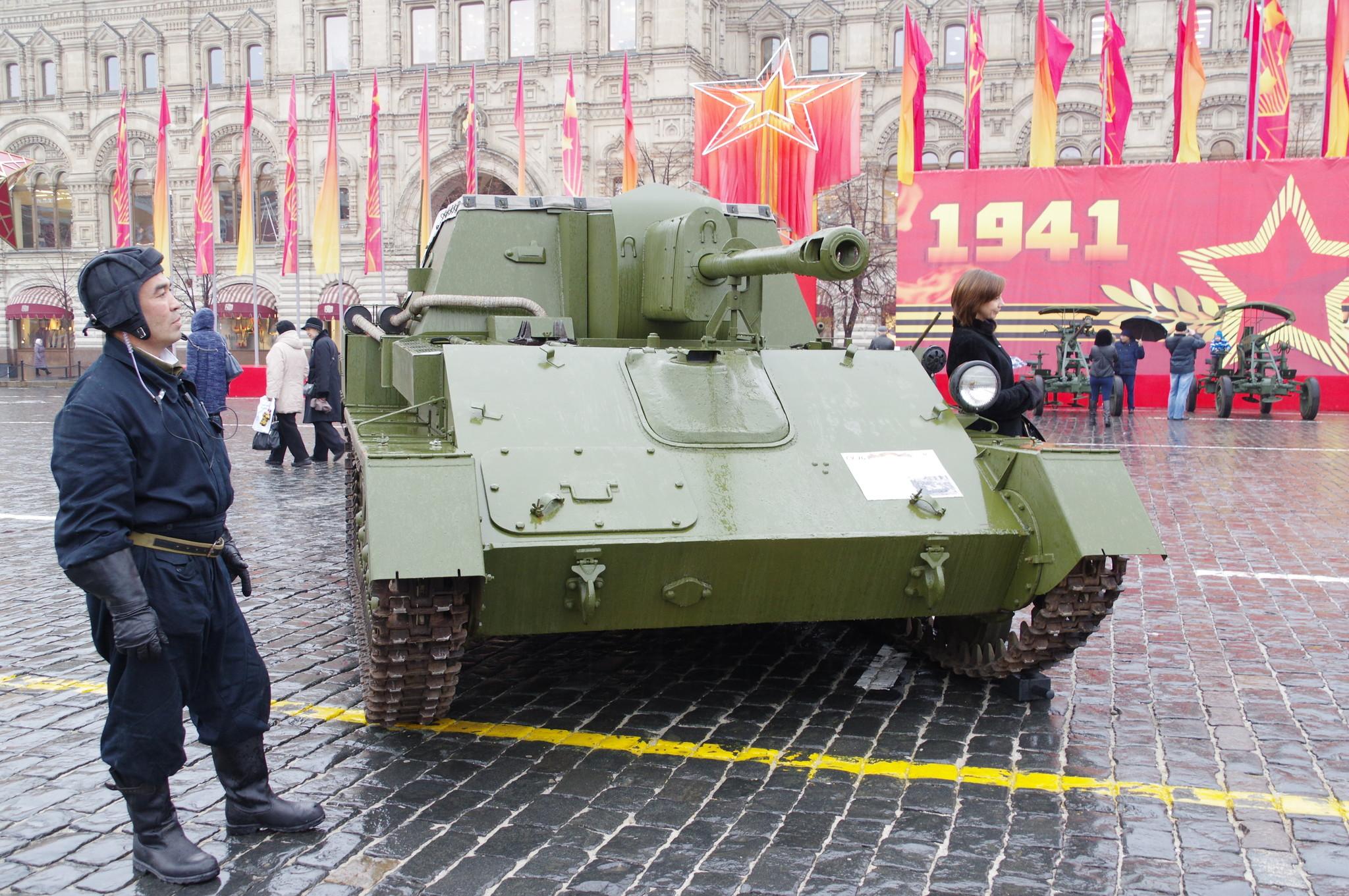 СУ-76 - советская лёгкая самоходно-артиллерийская установка